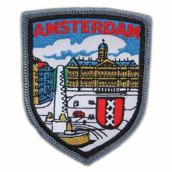 geborduurde badges Amsterdam