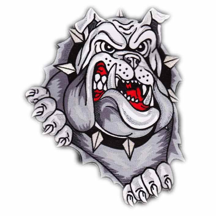 geweven badge bulldog