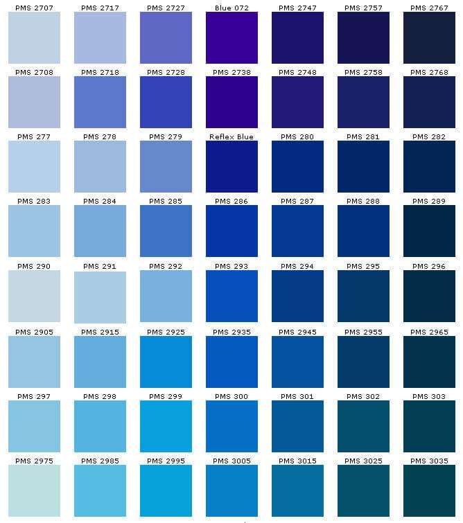 PMS kleuren