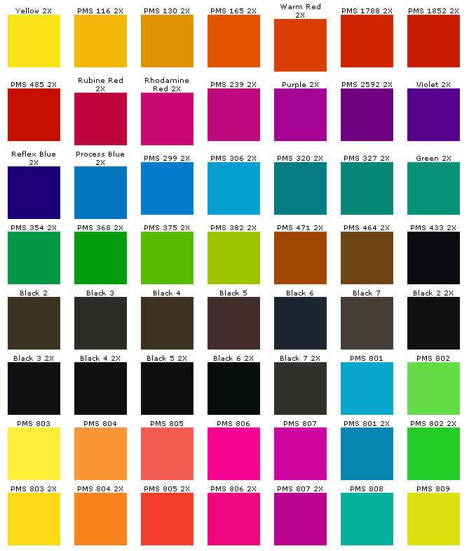 PMS kleuren - Kleding bedrukken amsterdam ...  Pantone Kleuren 2017